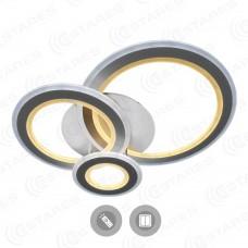 Управляемый светодиодный светильник Triplex round 108w R-700/600-white/white-220-ip44