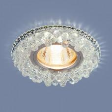 Встраиваемый потолочный светильник со светодиодной подсветкой 2211 MR16 CL прозрачный