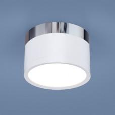 Накладной точечный светильник DLR029 10W 4200K белый матовый/хром