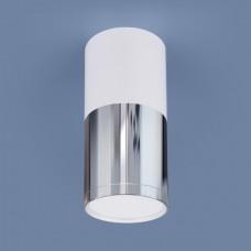 Накладной потолочный светодиодный светильник DLR028 6W 4200K белый матовый/хром/хром