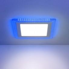 Встраиваемый потолочный светодиодный светильник Elektrostandard DLS024 10W 4200K Blue
