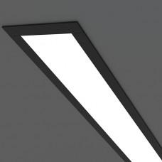 Линейный светодиодный встраиваемый светильник 128см 21Вт, черный матовый, LS-03-128-21-MB