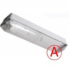 Аварийный накладной светильник LC-NSIP-40W IP65 с БАП 1 час Прозрачный