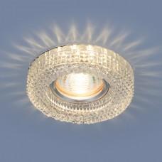 Встраиваемый потолочный светильник со светодиодной подсветкой 2213 MR16 CL прозрачный