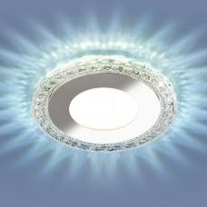 Встраиваемый потолочный светильник со светодиодной подсветкой 9909 LED 8W CL прозрачный