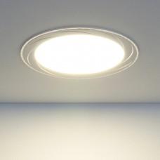 Встраиваемый потолочный светодиодный светильник Elektrostandard DLR004 12W 4200K WH белый