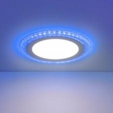 Встраиваемый потолочный светодиодный светильник Elektrostandard DLR024 18W 4200K Blue