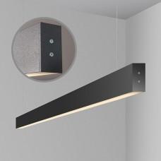 Линейный светодиодный подвесной двусторонний светильник 128см 35Вт,черная шагрень, LS-01-2-128-35-MSh