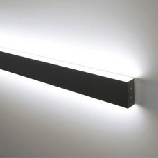 Линейный светодиодный накладной двусторонний светильник 78см 24Вт  черная шагрень LS-02-2-78-24-MSh
