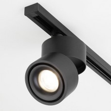 Трековый светодиодный светильник для однофазного шинопровода Klips Черный 15W 4200K (LTB 21)